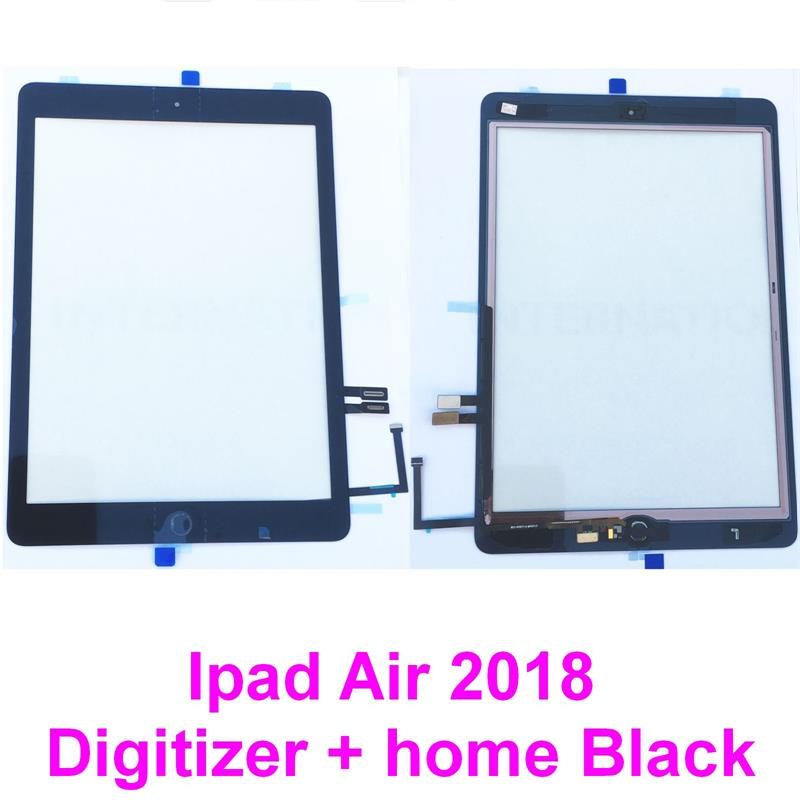 For iPad 6th 2018 Gen A1893 A1954 Touch Screen Digitizer Glass Black+Home Button