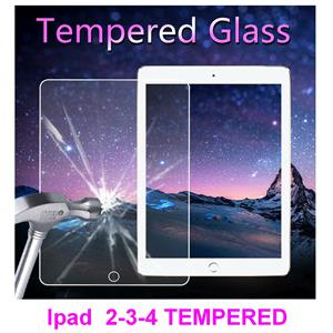 iPad 2 / 3 / 4 Tempered Glass Screen Protector 9H 2.5D 0.33mm Ultra thin Clear Protective Film * Retail Packaging