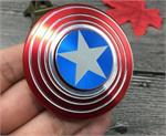METAL stainless Steel / Brass  Fidget Spinner Hand Finger Desk Spinner Toys Captain America shape * Retail Box