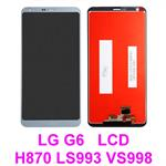 For LG G6 G-6 H870 H871 H872 LS993 VS998 US997 LCD Display Touch Glass lens Screen Digitizer Assembly * Silver/Light Gray-Blue