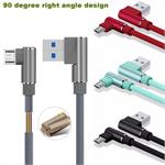 Micro USB * RIGHT ANGLE 3FT  phone Cable Data & Sync Faster Charge Cable Samsung, LG , Motorola , HTC , Nokia , Huawei , ZTE # 90 , #DC450A
