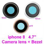 "for iPhone 8 -4.7"", Back Main Camera glass lens  + Ring Bezel"