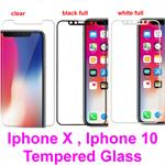 for iPhone X , iphone 10 , IPX , IP10, Tempered Glass Temper Screen Film Protector Guard front Cover* Retail Pack