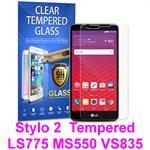 LG Stylo 2 Plus K550 MS550 LS775 VS835 K550 K530 TEMPERED TEMPER Glass Front Film Glass Lens Protector guard cover